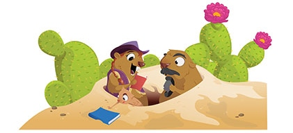 Prarie Dogs reading books